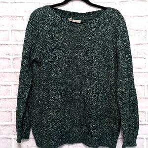 Vero Moda Green Scoop Neck Sweater Size L